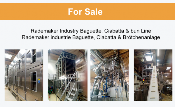 Rademaker, Diosna, Fritsch Industrie Baguette, Ciabatta & Brötchenanlage
